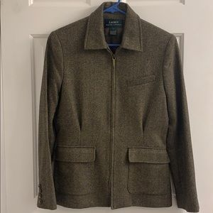 Ralph Lauren Women Wool Tweed Jacket Size 4